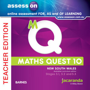 Assesson Maths Quest 10 Pathways 5.1/5.2/5.3 For New South Wales Australian Curriculum Teacher Edition (Online Purchase)