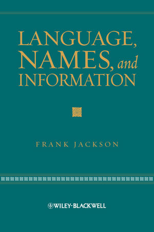 Language, Names, and Information (1444351575) cover image