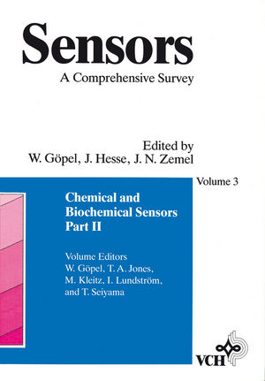 Sensors, A Comprehensive Survey, Volume 3, Part II, Chemical and Biochemical Sensors (3527620575) cover image