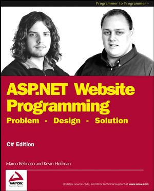 ASP.NET Website Programming: Problem - Design - Solution, C# Edition (0764543776) cover image