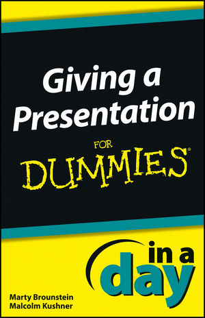 Giving a Presentation In a Day For Dummies (1118491076) cover image