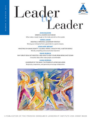 Leader to Leader (LTL), Volume 75, Winter 2015