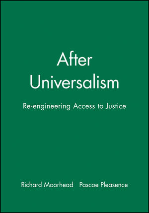 After Universalism: Re-engineering Access to Justice (1405112476) cover image