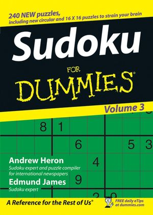 Sudoku For Dummies, Volume 3 (0470026677) cover image