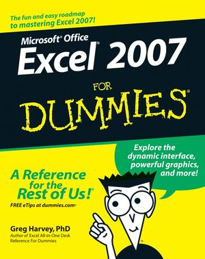 Excel 2007 For Dummies (0470037377) cover image
