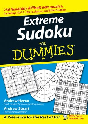 Extreme Sudoku For Dummies (0470116277) cover image