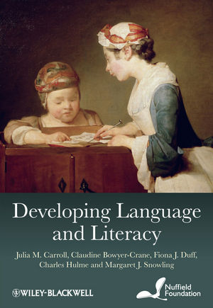 Developing Language and Literacy: Effective Intervention in the Early Years (0470977477) cover image