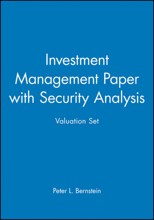 Investment Management Paper with Security Analysis Valuation Set
