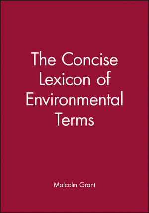 The Concise Lexicon of Environmental Terms