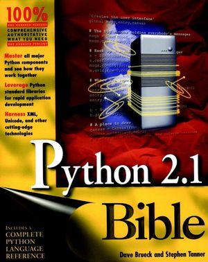 Python 2.1 Bible (0764548077) cover image