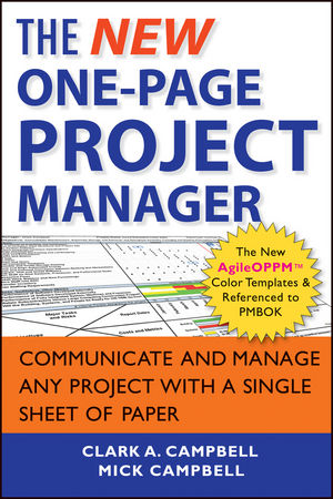 The New One-Page Project Manager: Communicate and Manage Any Project With A Single Sheet of Paper, 2nd Edition (1118378377) cover image