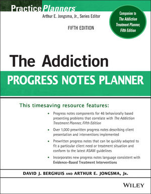 The Addiction Progress Notes Planner, 5th Edition (1118817877) cover image