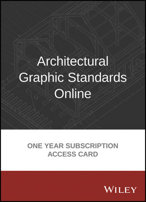 wiley: architectural graphic standards online 1 year subscription