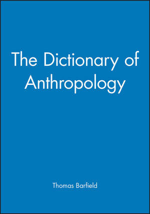 The Dictionary of Anthropology (1577180577) cover image