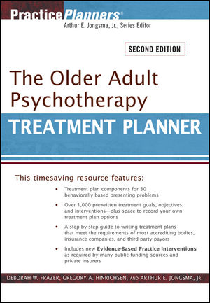 The Older Adult Psychotherapy Treatment Planner, 2nd Edition (0470551178) cover image