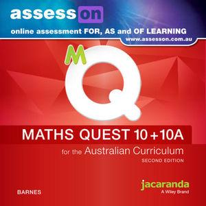 AssessON Maths Quest 10 + 10A for The Australian Curriculum 2e (Online Purchase)