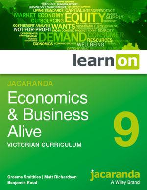 Jacaranda Economics & Business Alive 9 Victorian Curriculum LearnOn (Online Purchase)
