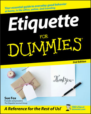 Etiquette For Dummies, 2nd Edition (1118051378) cover image