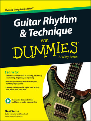 wiley guitar rhythm and technique for dummies book online video audio instruction desi serna. Black Bedroom Furniture Sets. Home Design Ideas