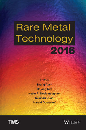 Rare Metal Technology 2016 (1119231078) cover image