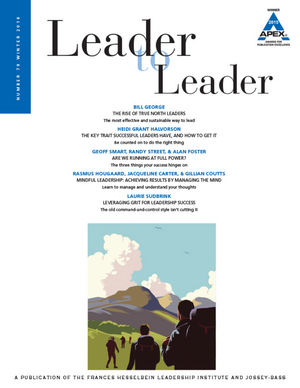 Leader to Leader (LTL), Volume 79, Winter 2016