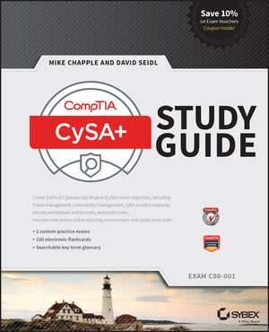 CompTIA Cybersecurity Analyst (CSA+) Study Guide: Exam CS0-001 (1119348978) cover image