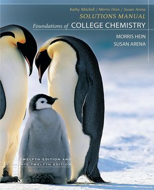 Foundations of College Chemistry, Textbook with Student Study Guide and Solutions Manual, 12th Edition