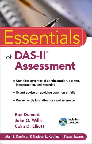 Essentials of DAS-II Assessment (0470450479) cover image