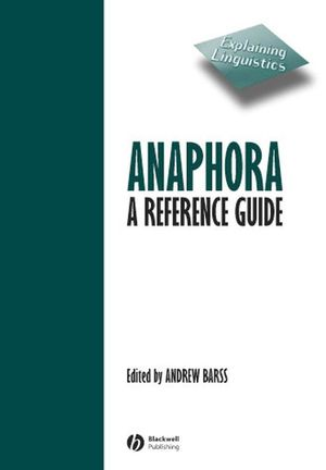 Anaphora: A Reference Guide (0631211179) cover image