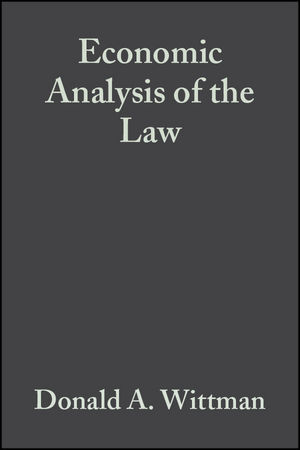 Economic Analysis of the Law: Selected Readings (0631231579) cover image