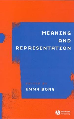 Meaning and Representation (0631235779) cover image