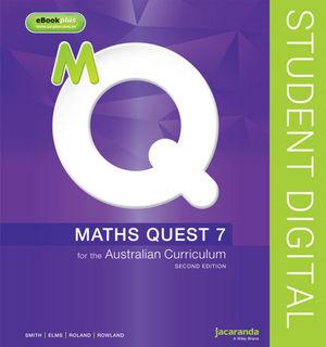 Maths Quest 7 For The Australian Curriculum 2E eBookPLUS (Online Purchase)