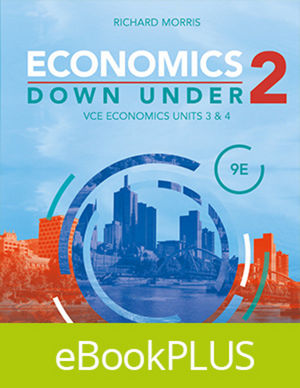 Economics Down Under Book 2 VCE Economics Units 3&4 9E eBookPLUS (Online Purchase)