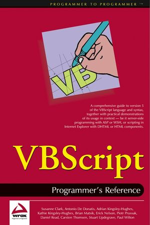 VBScript: Programmer's Reference