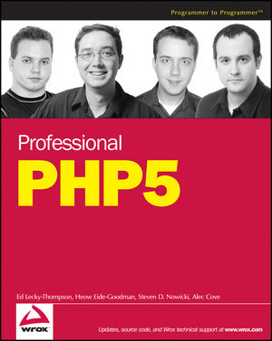 Professional PHP5 (0764583379) cover image