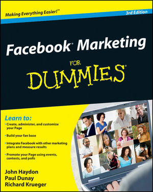 Facebook Marketing For Dummies, 3rd Edition (1118238079) cover image