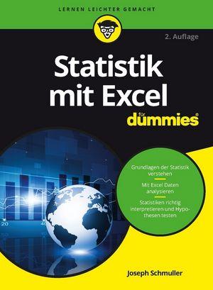 Statistik mit Excel für Dummies, 2. Auflage | Microsoft Excel ...