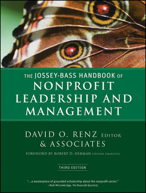 The Jossey-Bass Handbook of Nonprofit Leadership and Management, 3rd Edition (047087547X) cover image