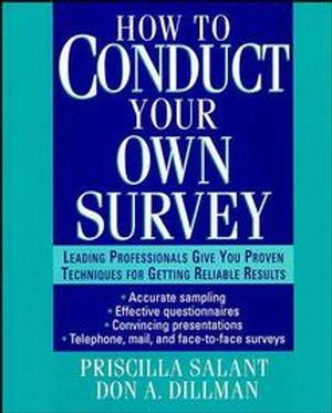 How to Conduct Your Own Survey (047101267X) cover image