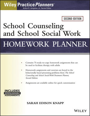School Counseling and Social Work Homework Planner (W/ Download), 2nd Edition (111938477X) cover image