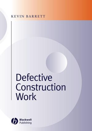 Defective Construction Work: and the Project Team (144430237X) cover image