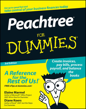 Peachtree For Dummies, 3rd Edition (0470179880) cover image