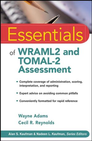 Essentials of WRAML2 and TOMAL-2 Assessment (0470460180) cover image