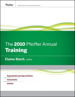 The 2010 Pfeiffer Annual: Training