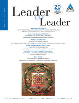 Leader to Leader (LTL), Volume 58, Fall 2010 (0470596880) cover image