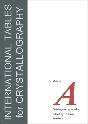International Tables for Crystallography, Volume A, 5th Edition, Space-Group Symmetry (0470689080) cover image