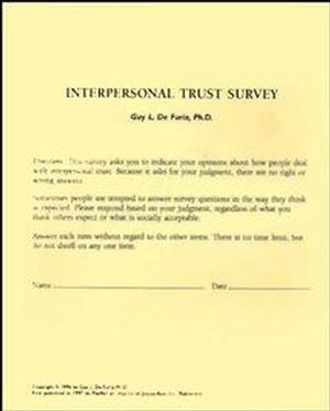 Interpersonal Trust Surveys, Self, Revised Second Printing