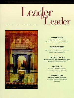 Leader to Leader (LTL), Volume 12, Spring 1999