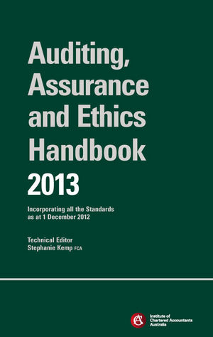 Chartered Accountants Auditing & Assurance Handbook 2013 + Wiley E-Text: Incorporating all the Standards as at 1 December 2012