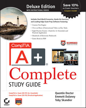 CompTIA A+ Complete Deluxe Study Guide: Exams 220-701 (Essentials) and 220-702 (Practical Application) (0470486481) cover image